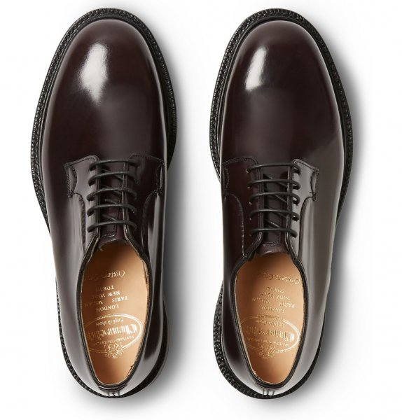 bcbec7ff11430 Church's Shannon Light Ebony Polished Binder Derby Blucher Shoes UK ...