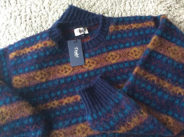 DROPS - BNWT Drakes Fair Isle and Brushed Shetland sweaters ...