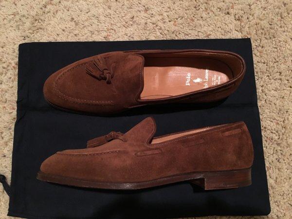 1f03d53d673 Crockett   Jones Ralph Lauren Suede Tassel Loafer 10D  Marlow ...
