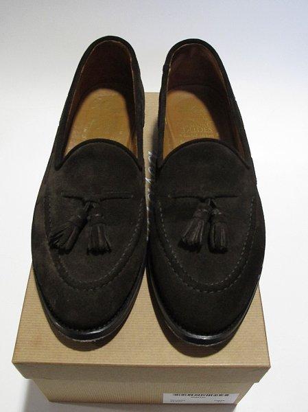 Velasca dark brown suede tassel loafers