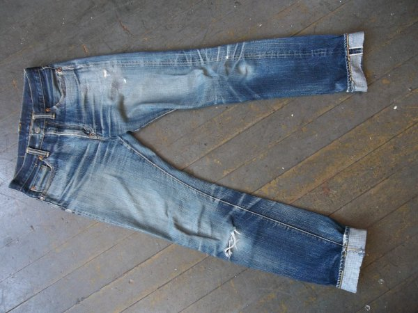 SOLD - Flat Head f310 selvedge denim jeans - well worn, great fades