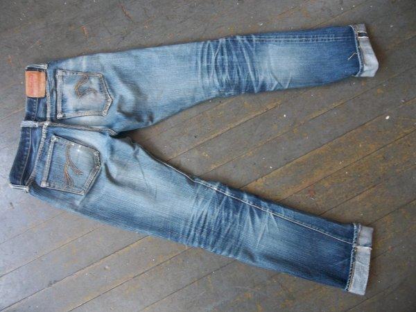 SOLD - Flat Head f310 selvedge denim jeans - well worn