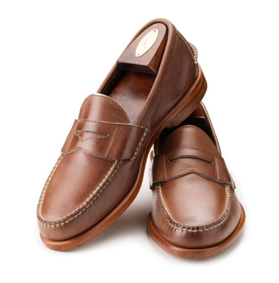 427f9f4ae48 New In Box - Rancourt Natural Chromexcel Pinch Penny Loafer 9.5 ...
