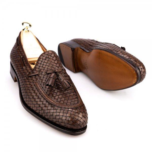 2f5b1b0126f09 CARMINA Braided Tassel Loafers Size UK 7.5   Styleforum