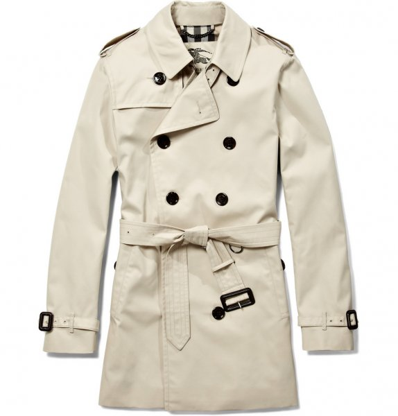 e9b7536d532e Burberry London double breasted cotton gabardine mid length trench ...