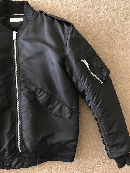 e7c93908359 Saint Laurent Classic bomber Jacket in Black Nylon Mens eu44/34us ...