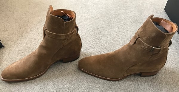 Saint Laurent Tan Suede Wyatt Jodhpur Boots YRkIq4C4