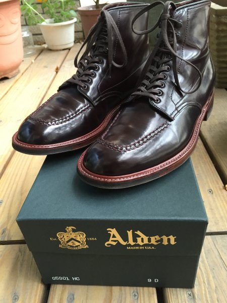 9d Alden Color 8 Shell Cordovan Indy Boots Shipped