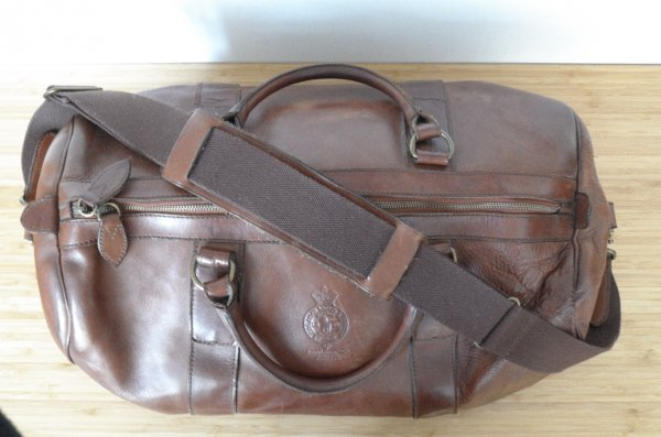 6e3647bb371e Polo Ralph Lauren Brown Leather Weekender Travel Bag