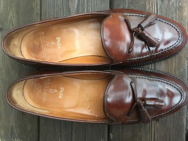 16fea54502d Ralph Lauren Marlow Shell Cordovan Tassel Loafers (C J) 8.5D ...