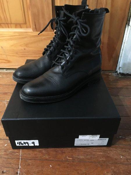 SLP Ranger Boot 9 Eye Black Calfskin