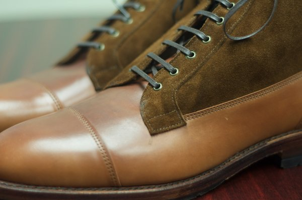 Allen Edmonds Natty Shell Cordovan and Suede Eagle County - 4.jpg