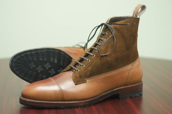 Allen Edmonds Natty Shell Cordovan and Suede Eagle County - 6.jpg