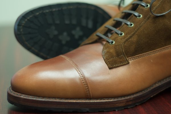 Allen Edmonds Natty Shell Cordovan and Suede Eagle County - 7.jpg