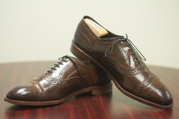 Allen Edmonds Brown Shell Cordovan Strands - 8.jpg