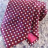 "New Brioni 100% silk burgundy tie 59.5""x3.5"""