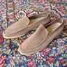 SOLD - BNIB LORO PIANA Summer Walk Light Beige Suede Loafers Shoes Size 45