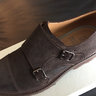 NEW Brunello Cucinelli Double Monk Suede Dark Brown Shoes Size US 8.5/UK 7.5/EU 41.5