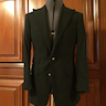 NEW RALPH LAUREN PURPLE LABEL 'SAVILE ROW' HAND MADE BLACK PEAK LAPEL BLAZER 38R