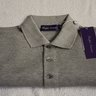 NWT $295 RLPL Short Sleeved Polo Shirt Size S, Classic Light Heather Grey, 100% Pique Cotton