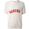 BARENA Logo-Embroidered Loopback-Linen Sweatshirt White S-M
