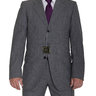 PRICE DROP! Sartoria Partenopea 42L 52 Gray Textured Three Button Wool Suit