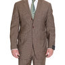 Sartoria Partenopea 40R 50 Brown Striped Half Lined Wool Mohair Suit