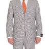 Sartoria Partenopea 40R 50 Gray Glen Plaid Three Button Wool Suit