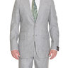 Sartoria Partenopea 40R 50 Gray Striped Mohair Wool Cashmere Suit