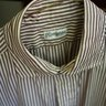 Camoshita cream/brown stripe shirt--size 40