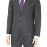 Sartoria Partenopea 42R 52 Gray Striped Wool Suit