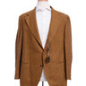 Sartoria Partenopea 46R Brown Multi Color Textured 3-Roll-2 Wool Sportcoat