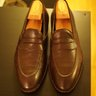 Carmina brown grain full strap loafers--7UK