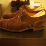 For Sale--Carmina brown suede captoes -- size 7UK