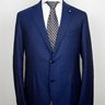 SOLD! NWT LARDINI Solid Royal Blue Wool Suit US44 42/EU54