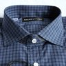 "NWT RLBL ""Bond"" 15"" Collar Shirt, Blue Check, Semi-Spread Collar, 100% Cotton"