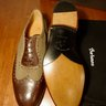 SOLD! NIB BARBANERA BROWN AND OLIVE GREEN GATSBY SADDLE SHOES US10.5