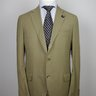 Major Price Drop!!! NWT LARDINI Khaki Silk Cotton Linen Blend Suit US44 42/EU54