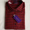 "NWT $525 RLPL ""Aston"" Tailored Fit Winter Sport Shirt, Red & Black Check, 100% Cotton, Size XL"