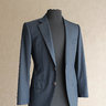 [LIKE NEW] WW CHAN - Bespoke Navy Suit in Shadow Herringbone VBC 120s - 36