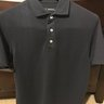 Kent Wang SS Navy Polo Size Large