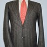 Price Drop: Mint $7990 Kiton Pure Cashmere Flannel Charcoal Stripe Suit 38-40R (48-50 EU)