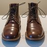 Viberg Scuffed/Marbled Color 8 Shell. Stitchdown 1035 last, Sz 10.5