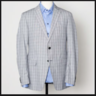 ETRO MILANO LIGHT GREY POW CHECK COTTON SPORT COAT BLAZER · EU54 US44