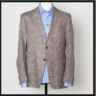 ETRO MILANO LIGHT BROWN PAISLEY PRINT LINEN SPORT COAT BLAZER · EU54 US44