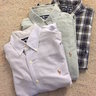 POLO RALPH LAUREN OXFORD SHIRT LOT 4 MENS MEDIUM OCBD PLAID VINTAGE POLO SPORT