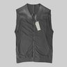 NICOLAS & MARK Leather Cotton Mesh Gilet Vest Black IT48/M
