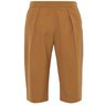 AGI & SAM Tapered Pleated Knee-Length Shorts Camel Wool S/28-30