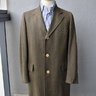 Bruce Douglas, hand-tailored tweed coat, size 38, vintage