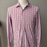 Kiton, blue-white-red plaid shirt, size 39, like new